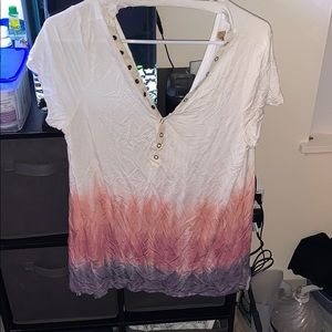 Casual, sexy tie die shirt
